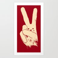 Love Peace And Carrots Art Print