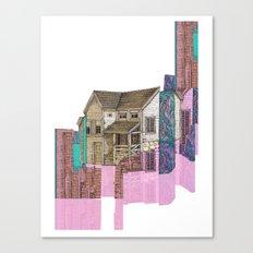 glitch house illustration Canvas Print