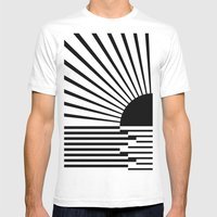 Black rays Mens Fitted Tee White SMALL