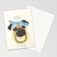 Pug life - pug dog Stationery Cards