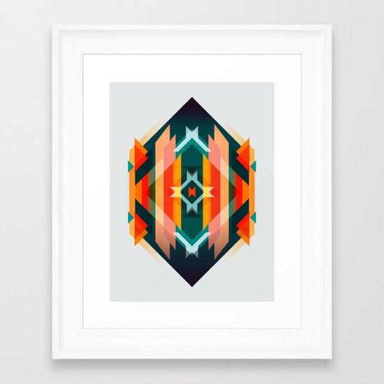 Broken Diamond - Incalescence Framed Art Print