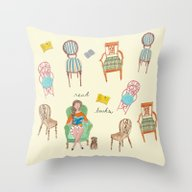 Read Books Throw Pillow