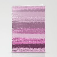 Stripey Pink Stationery Cards