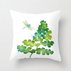 Dragonfly One Throw Pillow