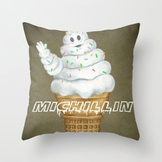 Mi..Chill..in Says Hi To… Throw Pillow