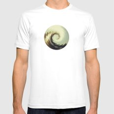 Wave White SMALL Mens Fitted Tee