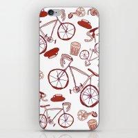 Bikes and Coffee iPhone & iPod Skin