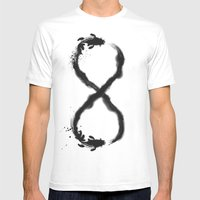Forever Koi Mens Fitted Tee White SMALL