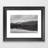 Reveil dans la brume Framed Art Print