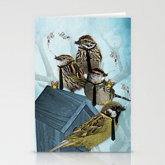 Smoking Birds Print Stationery Card