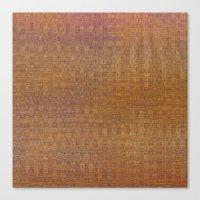 Square textured wicker Canvas Print
