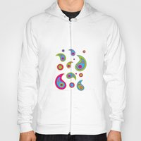 Paisleys - Plain Background Hoody