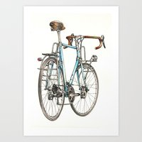 brooklyn blue beauty Art Print