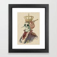 I LOVE THE KING Framed Art Print
