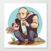 Roughneck Kirby Canvas Print