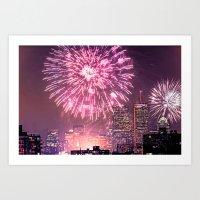 Boston, MA  July 4th Pops Fireworks Spectacular Art Print
