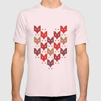 Foxes  Mens Fitted Tee Light Pink SMALL