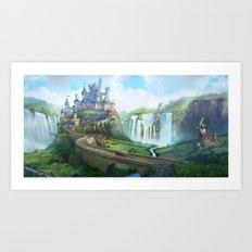epic fantasy castle  Art Print
