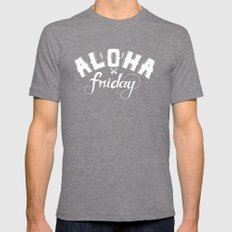 Aloha Friday! Mens Fitted Tee Tri-Grey SMALL