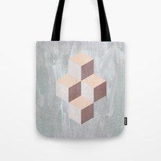 four cubes sixteen diamonds Tote Bag