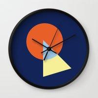 Triangle and circle Wall Clock