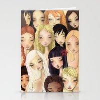 Girlie pattern Stationery Cards