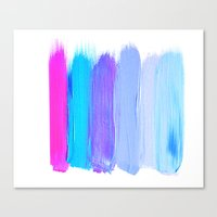 Ombre Brush Strokes Canvas Print