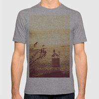 La Barra Sunset Mens Fitted Tee Athletic Grey SMALL