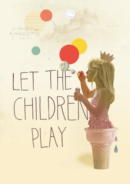 Let the children play Canvas Print