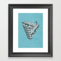 Up and Down City Framed Art Print