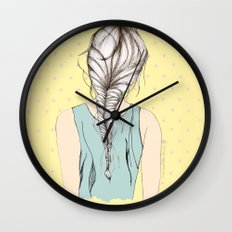 Hair braid Wall Clock