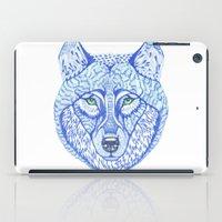 ice wolf iPad Case