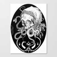 Witch Skull Canvas Print
