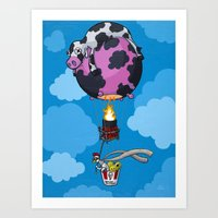 The Daring Escape of Baron Von Chicken Art Print