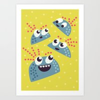 Happy Candy Friends Art Print