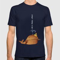 I Am A Happy Whale Mens Fitted Tee Navy SMALL