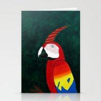 Parrot Evolution Stationery Cards