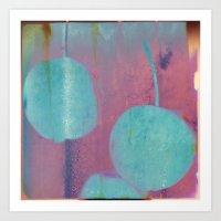 Blue Cherries Art Print