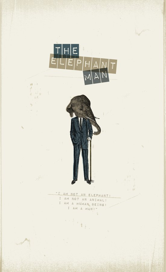 The elephant man Art Print