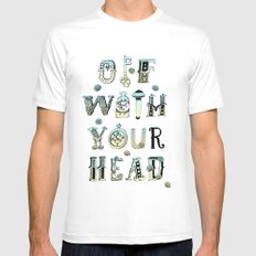 Off With Your Head Mens Fitted Tee White SMALL