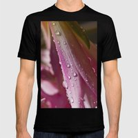 Water Drops Mens Fitted Tee Black SMALL