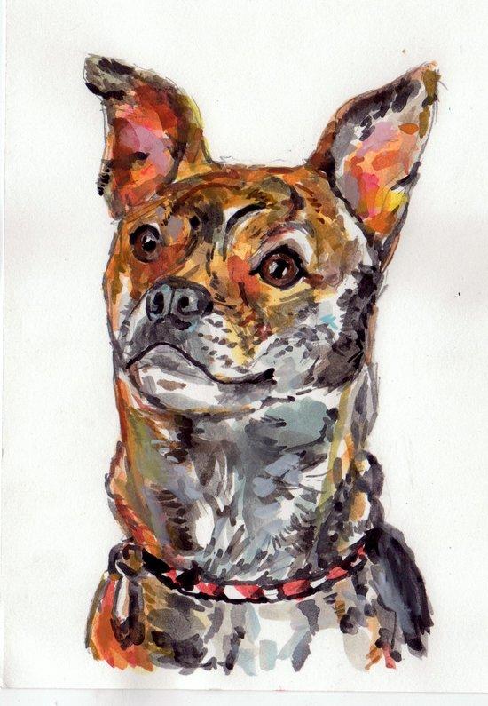 Sweet Mixed Breed Pup Art Print