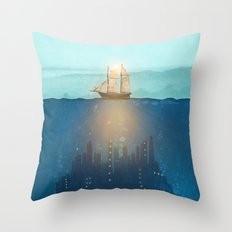 The Underwater City Throw Pillow