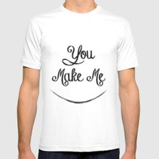 You Make Me Smile - Chalkboard Mens Fitted Tee White SMALL