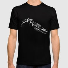 Jurassic Bloom - The Clever Girl Mens Fitted Tee Black SMALL
