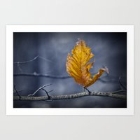 Last Leaf of Autumn Art Print