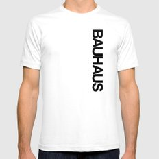 BAUHAUS AND THE WHITE SMALL Mens Fitted Tee White