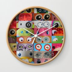 Eyes Eyes Eyes  Wall Clock