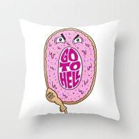 Mad Donut Society Throw Pillow