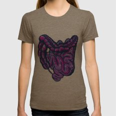 GUTZ Womens Fitted Tee Tri-Coffee SMALL